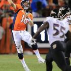 A scheduling conflict forced the Super Bowl champion Baltimore Ravens to open the 2013 season in Denver, where Peyton Manning stole the show. Manning threw seven TD passes on 462 yards, setting the stage for a record-breaking season.