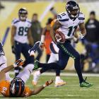 Percy Harvin returns the second-half kickoff 87 yards for a touchdown to give Seattle a 29-0 lead. It was the first game all season that he started and finished.