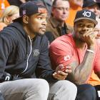 Durant takes in a game between the Memphis Tigers and the Oklahoma State Cowboys at Gallagher-Iba Arena in Stillwater.