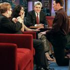 New York Giants defensive back Jason Sehorn proposed to his girlfriend Angie Harmon on the show as Leno and Elton John watched. She said yes.