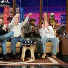 """After the Red Sox won their first championship in 86 years in 2004, members of the team appeared on <italics>The Tonight Show</italics>. Leno tore open his shirt to reveal a """"Papi"""" t-shirt."""