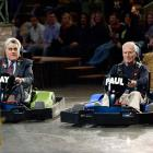 Leno raced actor and former professional race car driver Paul Newman on his show in 2006.