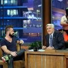 """San Francisco Giants reliever Brian Wilson sported his famous beard on <italics>The Tonight Show</italics>, just after Wilson's pitching helped the Giants win the World Series. After a clip played of Wilson mentioning """"The Machine,"""" a character he'd referenced multiple times before from the movie <italics>8mm, </italics>the masked man appeared and stood behind Leno."""