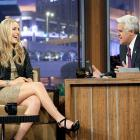 Fresh off an impressive performance at the 2010 Vancouver Games, skier Lindsey Vonn joined Jay Leno on his first <italics>Tonight Show</italics> appearance after replacing Conan O'Brien as host. O'Brien had taken over for Jay Leno as host several months prior.