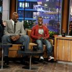 Former NBA player Shaquille O'Neal was certainly the tallest man on set when he appeared on <italics>The Tonight Show</italics> with actor/musician Justin Timberlake and comedian Kevin Hart.