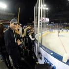 NHL Stadium Series Los Angeles Kings vs. Anaheim Ducks Jan. 25, 2014 at Dodger Stadium in Los Angeles