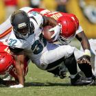 Though it's possible Jones-Drew could re-sign with the Jaguars and remain in Jacksonville, the three-time Pro Bowler could easily be wearing a new helmet this autumn. After three excellent seasons from 2009-11 -- including an All-Pro year in 2011 in which Jones-Drew rushed for a league-leading 1,606 yards -- the Jaguars' running back has struggled the past two years. Amid a slew of injuries and surrounded by a weak Jaguars roster, Jones-Drew has only managed to rush for 1,217 yards the past two seasons combined.