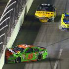Danica Patrick walked away from this hard hit into the wall during a wreck that involved 12 cars.
