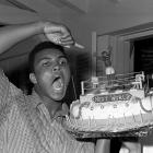 Ali turned 22 on Jan. 17, 1964 and (continuing the pastry motif) celebrated with a cake decorated with a boxing ring and a sweet tableau indeed: Sonny Liston in a horizontal position and the victorious Cassius Clay above him.
