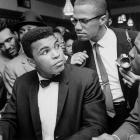 In a move that would further shake up the world (and outrage a large portion of American sports fans), the new champion announced immediately after the Liston fight that he was joining the Nation of Islam and changing his name from Cassius Clay to Muhammad Ali. This photo, from March 1964, shows Ali together with his mentor in the conversion to Islam, Malcolm X. Ali's association with the black nationalist leader opened a new chapter in his life and would carry him far beyond the boxing ring.