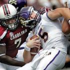 Clowney brings down East Carolina quarterback Shane Carden.