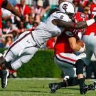 Clowney sacks Georgia quarterback Aaron Murray.