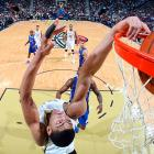 New Orleans Pelicans forward Anthony Davis dunks the ball against the Los Angeles Clippers during a Monday NBA game. Despite 26 points from Davis, the Pelicans fell to the Clippers, 123-110.
