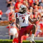 Clowney celebrates a play against Georgia.