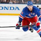 What is Martin St. Louis's preferred destination? Reportedly, it's the Rangers. So that has apparently opened up talks about New York's 28-year-old captain, a pending unrestricted free agent at the end of this season. There hasn't been any progress in re-signing Callahan, so as the New York Post's Larry Brooks reported, the Rangers inquired about a Callahan-for-St. Louis swap. Understandably, Tampa Bay GM Steve Yzerman has little interest in shipping off a franchise player for a rental. Still, Callahan could still be a trade target if the reported gap between him (he's asking for $6.75 million per season for seven years) and the team (which is willing to go $6 million for five) doesn't close up. And it likely won't. If Callahan, a Rochester, N.Y., native, hits the free market, expect the Sabres to pony up for the hometown guy. -- <italics>Sarah Kwak</italics>