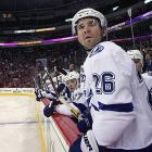 The 38-year-old veteran has called Tampa Bay home for the last 13 years, and he still has another season left on his contract, but he has reportedly asked GM Steve Yzerman for a trade?ostensibly because he's peeved by his original omission from the Canadian Olympic squad, which Yzerman also managed. Though St. Louis went to Sochi as an injury replacement and won a gold medal, that fact hasn't quieted the rumors of a rift between him and Yzeman. St. Louis, the team's leading scorer and Art Ross Trophy winner last season, will demand a pretty penny from any suitors, and he will have the final say about where he ends up. His contract has a no movement clause that he can exercise. -- <italics>Sarah Kwak</italics>