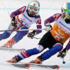 Radomir Dudas of Slovakia follows guide MIchal Cerven during the Visually Impaired Skiing Downhill competition at the 2014 Sochi Paralympic Winter Games on Saturday. Sochi is the fourth Olympics in which Dudas has competed.