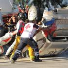 Robert Kubica and his crew roll on against all odds during special stage 10 of the exciting auto race in Leon, Mexico.