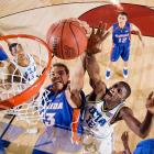 Sophomore starters Joakim Noah, Al Horford, Corey Brewer and Taurean Green and the Gators entered the season unranked. But by April, sparked by the charismatic Noah's tenacity (and his tournament-record six blocks in the the NCAA final against UCLA), the quartet of roommates had won the first of two NCAA titles.