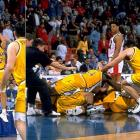 The moment has a permanent place in every Big Dance highlight reel: With 2.5 seconds to play an opening-round game against No. 4 Ole Miss, Jamie Sykes threw a 55-foot inbounds pass to Bill Jenkins, who tapped it to Bryce Drew (left) for the leaning three-pointer that upset the Rebels 70-69.