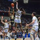 The Vikings' Run 'n' Stun style made quite an impression on the No. 3-seed Indiana, who lost 83-79 in the first round. Led by freshman point guard Ken (Mouse) McFadden, the Vikings defeated Saint Joseph's and then came within a point of beating David Robinson and Navy.