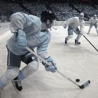 The infrared affect made the players look like metallic statues or video game figures.