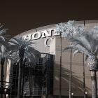 Famed hockey photographer Bruce Bennett shot the Washington Capitals vs. Anaheim Ducks game on March 18, 2014 using an infrared camera that gave everything an otherworldly look. Compare this photo with the one in the next frame.