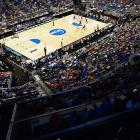 A view of the pro-Florida crowd that traveled to Orlando for the Gators' opener.