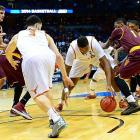 In order to put up the game-winner, Cameron Ridley first had to jostle with Arizona State defenders for the loose ball off an errant three-point attempt.