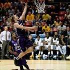 Jacob Parker scored a game-high 22 points for the Lumberjacks, who played in the fifth overtime game during the round of 64, a tournament record.