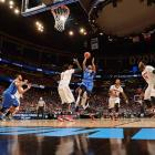 Jordair Jett (5) scored 15 points for the Billikens, who lost in the third round for the third consecutive year.