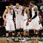 The Spartans were one of two trendy championship picks entering the tourney, and they've done nothing to dissuade the masses in their first two games. For a team with a top-10 offense, though, they really struggle from the free throw line. Rarely do you see a team that ranks outside the top 150 in free throw percentage skirt that deficiency all the way to the national championship.