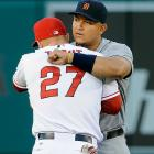 The last two years, the American League Most Valuable Player race came down to the same two players, the Tigers' Miguel Cabrera, the winner both years, and the Angels' Mike Trout, who many think was more deserving on each occasion. There's no reason not to expect similar performances from both players this year, and this game marks the final time in the 2014 regular season that they will meet face-to-face on the field, by which time that MVP debate may already be at full volume.