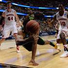 Rico Gathers tries to keep the ball from going out of bounds on a night when Baylor trailed by 14 in the first half.