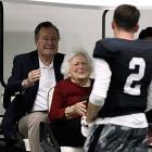 """Johnny """"Football"""" Manziel, the nation's beloved NFL prospect, was greeted by his receiving corps before a private workout on the Texas A&M campus."""