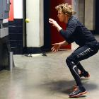 Meanwhile at the Scotiabank Saddledome in Calgary, the Anaheim Ducks netminder warmed up for a match against the Flames by levitating a tennis ball with sheer, steely willpower.