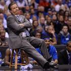 Coach John Calipari saw his freshman-laden team get down by 13 points midway through the first half, but then lead by seven with 4:30 to go.