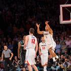 Justin Anderson puts up a last-second desperation shot.