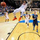 Florida took a 30-game winning streak into its semifinal game against seven seed UConn and lost 63-53. In the other semifinal, eight seed Kentucky defeated two seed Wisconsin 74-73 and then lost to Connecticut in the championship game, 60-54.