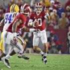 AJ McCarron talks a good game regarding his mechanics and deep-ball ability. The tape, however, shows a reasonably mobile, reasonably strong-armed, reasonably talented quarterback who usually had gobs of time in the pocket due to outstanding offensive lines, and a quarterback who didn't generally have to pull games out without a lot of help. Most likely, he's a career backup and possible spot starter at the NFL level. <italics>Draft projection: Round 2-Round 3</italics>