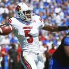 Teddy Bridgewater is a mobile, intelligent, competitive player with outstanding field vision and the ability to make most NFL throws. Does he have a laser rocket arm? No, but he can throw on the run, off-balance and across his body accurately. He completed 71 percent of his passes in 2013, and threw for nearly 4,000 yards. Yes, his schedule of opponents wasn't daunting, but he still had to make those plays. Draft projection: Top 10