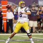 If Zach Mettenberger were entering the draft 25 years ago, he'd be a lead-pipe first-round prospect -- he has a classic delivery, good size for the position and can zing the ball into tight windows. The main issue is that he doesn't show a lot of mobility ? he's very much the old-school statue of a quarterback who needs a clean pocket for a long time to really make things happen. He'll have to have the right kind of system -- and protection -- to make that work in the NFL. <italics>Draft projection: Round 2-Round 3</italics>