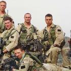 Pat Tillman with fellow Rangers in Afghanistan.