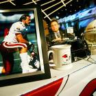 A photo of Tillman sits at the Cardinals table before the start of the 2004 NFL draft.