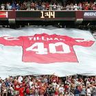 The Arizona Cardinals retired Tillman's number on Sept. 19, 2004.