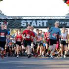 Runners start the 9th annual Pat's Run in April 2013. The race in Tempe, Ariz., is a celebration of the life of Pat Tillman.