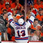 """The former Flyer otherwise known as """"Car Bomb"""" greeted his adoring public in Philadelphia after scoring a third period goal at the Wells Fargo Center. The folks here were not particularly thrilled when Carcillo's Rangers downed their Flyers, 4-1."""