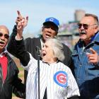 """Billy Williams, Dutchie Carey, Ernie Banks and Dick Butkus made it a point to be on hand to warble """"Take Me Out To The Bawlgame"""" during the seventh Inning stretch as the Cubbies celebrated the 100th Anniversary of Wrigley Field with a little game of rounders vs. the Arizona Diamondbacks. Naturally, the hometown nine lost after coughing up a four-run lead in the ninth."""