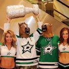 Much to the obvious delight of these ladies, two avid fans screamed themselves horse during their favorite team's Stanley Cup playoff tilt vs. the visiting Anaheim Ducks.