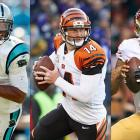 Carolina's Cam Newton, the Heisman winner, rewrote the passing record book as a rookie, fell into some bad habits at times in Year 2, then rebounded with stellar play in 2013, leading the Panthers to their first playoff berth in five years. Newton's fellow first-round QBs -- Tennessee's Jake Locker (No. 8), Jacksonville's Blaine Gabbert (10th) and Minnesota's Christian Ponder (12th) -- haven't come close to matching his start. But there have been two significant second-round success stories in Cincinnati's Andy Dalton (No. 35) and San Francisco's Colin Kaepernick (No. 36). Lastly, fifth-round pick T.J. Yates turned in strong work as a rookie in the second half of 2011.
